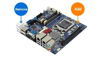 Semi-Customized Motherboard