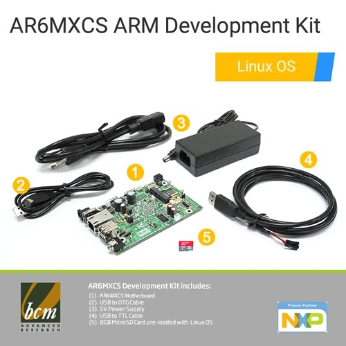 AR6MXCS-DEV Series i.MX6 Solo Core mini ARM Motherboard Development Kit with Linux OS