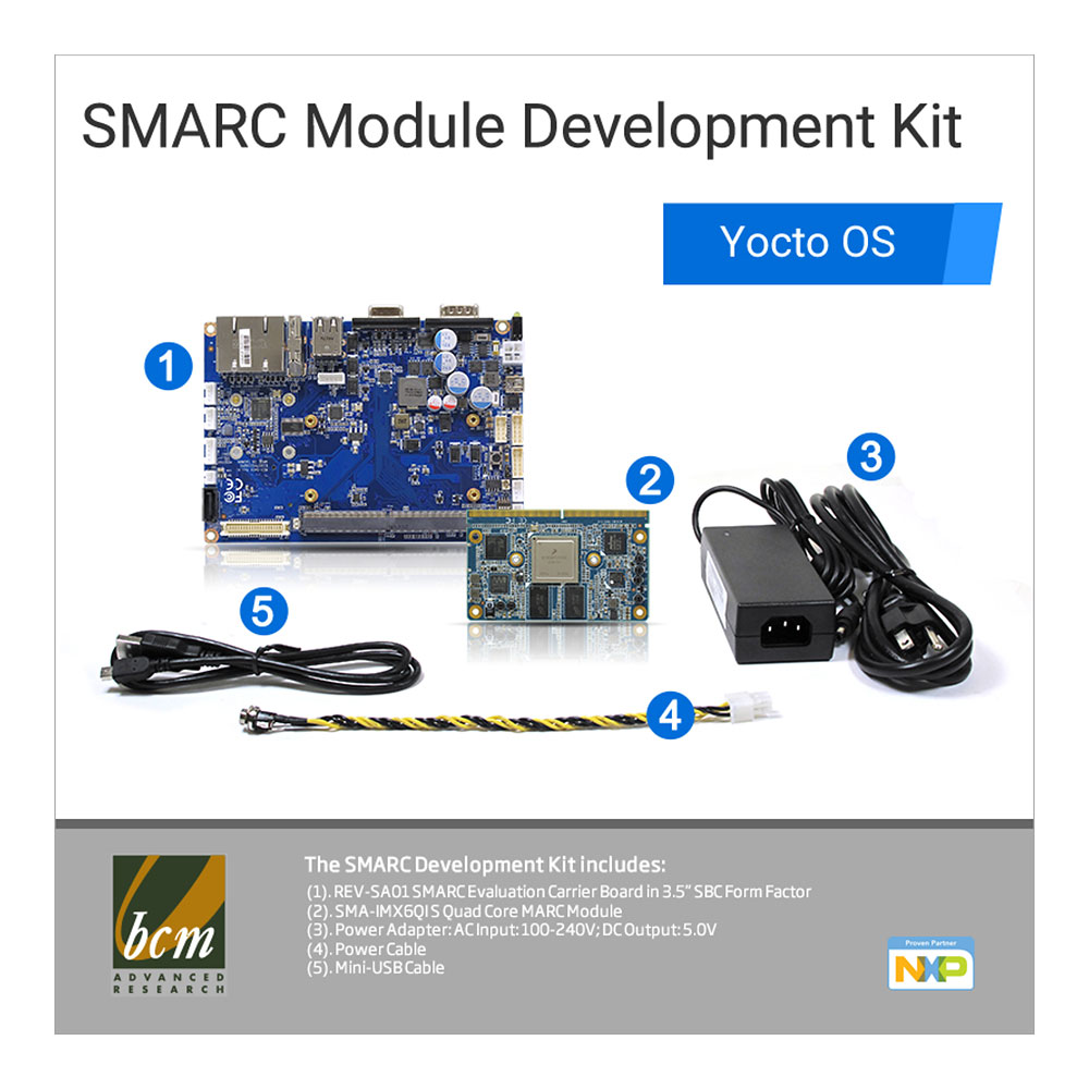 SMARC Module Development Kit with Yocto OS