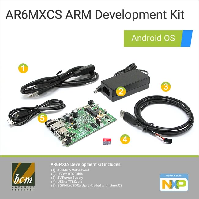 AR6MXCS-DEV AR6MXCS mini ARM Motherboard Development Kit with Linux OS