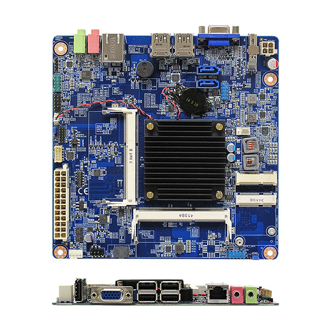 MX1900JX Intel BayTrail-D J1900 Quad Core Thin mini-ITX Motherboard with ATX Power