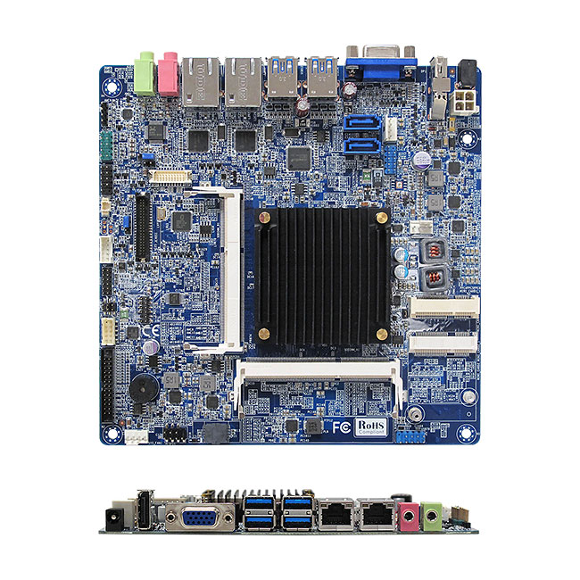 MX1900J Intel BayTrail-D J1900 Quad Core Fanless Low Profile mini-ITX Motherboard