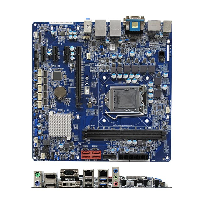 RX110H Intel H110 Intel Kaby Lake Skylake Micro ATX Motherboard supports 3 Independent Display