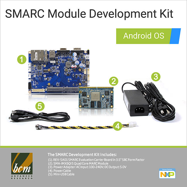 SMA-IMX6CQ-DVA SMARC Module Development Kit with Android OS