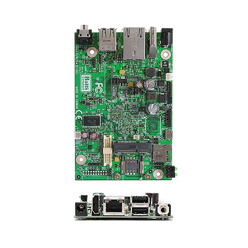 AR6MXCS NXP i.MX6 ARM Cortex A9 Solo Core 1.0 GHz ARM Motherboard with 512 MB DDR3 onboard, 5V DC-in