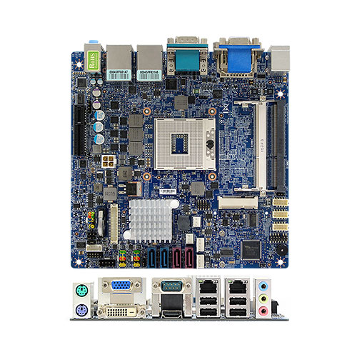MX67QMD (DC Power) Intel® QM67 mini-ITX Motherboard supports 2nd generation Intel® Core™ i7, i5, i3 Mobile processors (Sandy Bridge Platform) delivering advanced computing performance for gaming, POS, digital signage applications