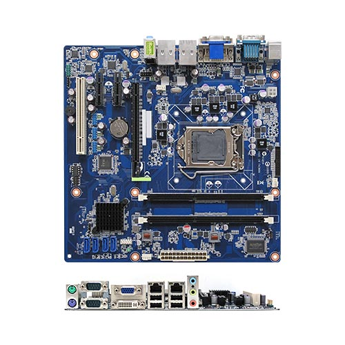 RX61H Intel H61 uATX Motherboard supports 22nm/32nm Intel® Core™ i7/i5/i3 Processors and Celeron® Processors